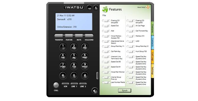 Le téléphone logiciel IP Iwatsu ICON Softphone