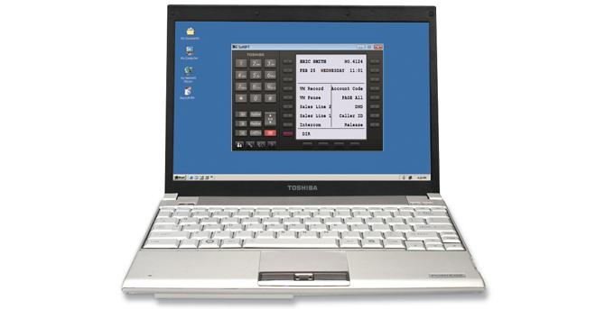 Téléphone logiciel SoftIP de Toshiba